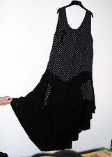 *Puro Lino* Made in Italy lagenlook layered 100% linen dotty maxi dress