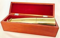 36681 BARSKA COLLAPSIBLE SPY SCOPE BRASS TELESCOPE IN WOODEN BOX EXTENDABLE