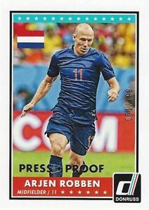 2015 Donruss Soccer Base Parallel Arjen Robben Silver Press Proof 51/199 Holland