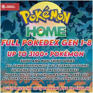 ✨Ultimate Shiny Full Pokedex Gen 1-8 | Pokemon Home | COMPLETE