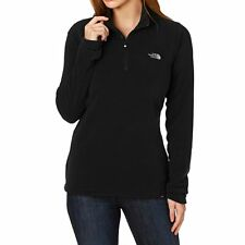 New Womens North Face Fleece Glacier 1/4 Zip Jacket Top Black XL