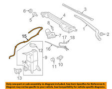 TOYOTA OEM 07-17 Tundra Wiper Washer-Windshield-Reservoir Hose 853760C020