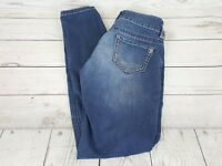 Maurices Blue Wash Distressed Stretch Waist Skinny Fit Women Jeans Size XS-S