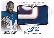 2014 National Treasures Hats Off Andre Williams Auto 3 Color Logo Patch Rc # 1/4