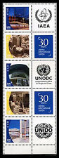 United Nations UN S32v1 Vienna 1.40 #456b, 2009 Personalized Stamps Strip of 5