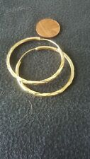 Womens 9ct Gold Plated Hoop Earings
