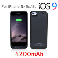 4200mAh Portable External Backup Power Bank Battery Case Charger iPhone 5 5S 5C