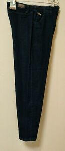 LEE Women's Relaxed-Fit Side Elastic High Rise Tapered Baggie Jean Size 16 Short