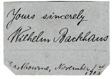 More details for wilhelm backhaus - german pianist - 1903 signature & photocard