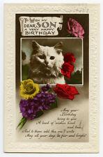 1930s Cute British Cat vintage photo postcard