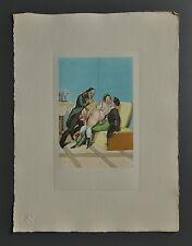 Peter Fendi 1796-1842 Lithographie 30x40 Akt Erotik Biedermeier Nude Nus Couples