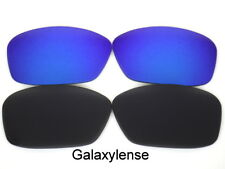 Galaxy Replacement Lenses For Oakley Ten-X Sunglasses Black&Blue Polarized