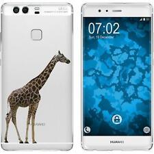 Case für Huawei P9 Silikon-Hülle Vektor Tiere Giraffe M8 + 2 Schutzfolien