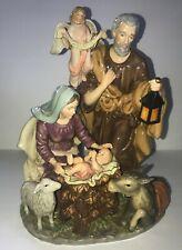 KIRKLAND Porcelain HOLY FAMILY Christmas Nativity With Box