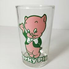 Porky Pig 1976, 8 oz. glass, glassware Bugs Bunny bottom Warner Bros collectible