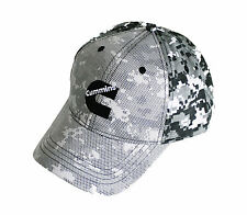 Cummins Diesel Digital Snow Camo Snapback Cap with Mesh Overlay