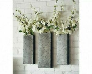 LAST New Magnolia Home Joanna Gaines Set of 3 Aged Zinc Metal Hanging Wall