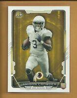 Jamison Crowder RC 2015 Bowman Rookie Card # 86 Washington Redskins Football