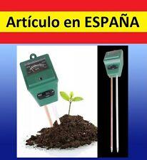 3en1 medidor pH + humedad + luz ambiental para plantas tierra test jardin flores
