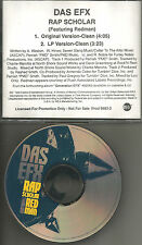 DAS EFX w/ REDMAN Rap Scholar w/ 2 RARE CLEAN TRX PROMO DJ CD single 1998 USA