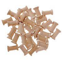 50pcs Vintage Natural Wooden Classic Bobbin Empty Thread Spools Sewing Craft