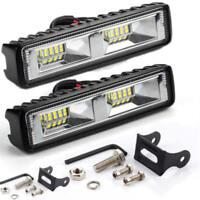 48W 12V 16 LED Arbeitslicht Spot Beam Bar Auto SUV Off-Road Nebelscheinwerfer 2x