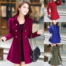 2018 New Fashion Women Winter Korean Windbreaker Slim Outwear Long Coat Jacket