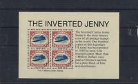 UN BLOC DE 4 DU TIMBRE LE PLUS CHER DU MONDE THE INVERTERED CURTISS JENNY