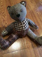 Plush Bear Rare Authentic Fossil Rare Stitching Great Patterns 2005 Teddy B