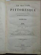 MAGASIN PITTORESQUE, 1848 : Bornéo, tactique navale, machine à vapeur, jeux...