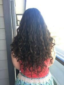 21IN 5.99OZ 170G THICK VIRGIN BROWN WAVY HUMAN HAIR PONYTAIL PONY TAIL HAIRCUT
