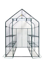 12 Shelf Portable Garden Patio Small Walk In Greenhouse cover Structure Kit New