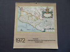 Haack Geographisch-Kartographischer Kalender 1972, historische Landkarten, DDR