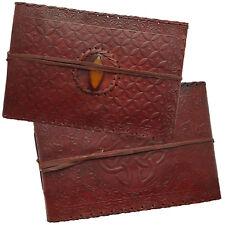 Real Leather Handmade Photo Album Scrapbook Embossed Orange Stone 2nd's Quality