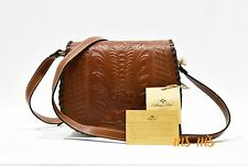 Patricia Nash Cross body Brown Italy Leather Bag Nwt Purse Flap Messenger
