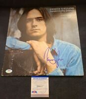 JAMES TAYLOR SIGNED SWEET BABY JAMES VINYL PSA/DNA AUTHENTICATED #AH48814 WOW