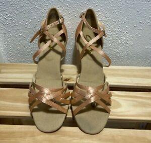 Capezio rose gold 7.5 US tango/salsa/ballroom shoes