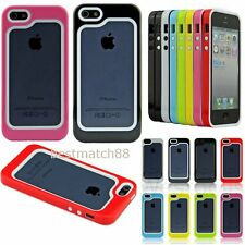 For iPhone 5 5S whole sale bulk 8x color Heavy Duty Bumper Frame Case Shockproof