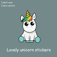 New Lovely Vinyl Funny Car Stickers Unicorn Windows Decal Cartoon