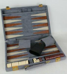 Vintage Travel Backgammon Set in Folding Felt Case - EHB