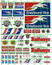 7016 DAVE'S DECALS BUSINESS SET HO SCALE BUS STATION DEPOT GREYHOUND