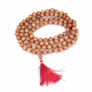 Authentic Sandalwood Garland| Wooden Meditation Prayer 108 Beads