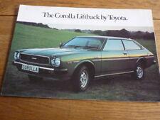 TOYOTA COROLLA LIFTBACK BROCHURE 1977/78