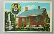 JENNEY WADE HOUSE AND MONUMENT, GETTYSBURG,  PENNSYLVANIA Vintage Post card