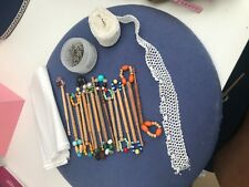 LACE MAKING Bundle - LACEMAKING PILLOW, BOBBINS, bobbin roll, pins.