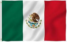 Anley Mexican Flag Mexico Banner Polyester 3x5 Foot Country Flags Outdoor