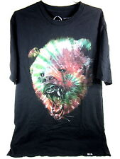 ROOK GRIZZLY TIE DYE T-SHIRT VINTAGE BLACK MEN'S SIZE MEDIUM 100% COTTON NEW