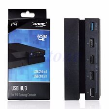 5 Ports USB 3.0 2.0 Hub Extension High Speed Adapter for Sony Playstation 4 PS4