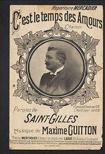 """MUSIQUE & CHANSON """"C'EST LE TEMPS DES AMOURS"""" par SAINT-GILLES & Maxime GUITTON"""