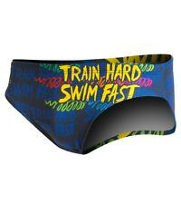 """Turbo Water Polo Men's Swim Brief Size 38 """"Train Hard Swim Fast"""""""
